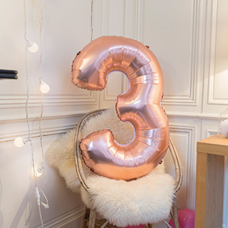 Ballons mylar chiffre 86cm rose gold