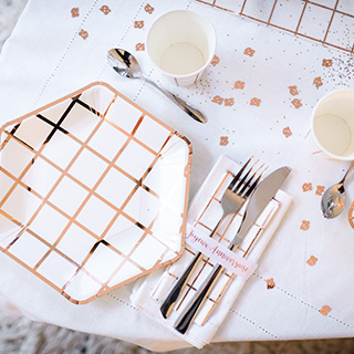 Ma vaisselle de table rose gold