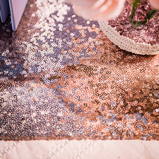 Mes petits sequins rose gold
